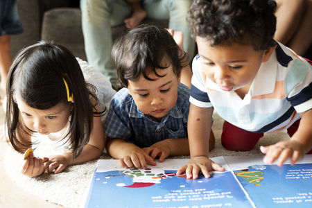 Toddlers learning at daycare