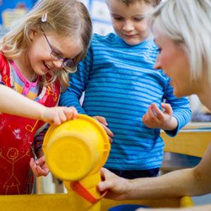 toddlers having fun at daycare